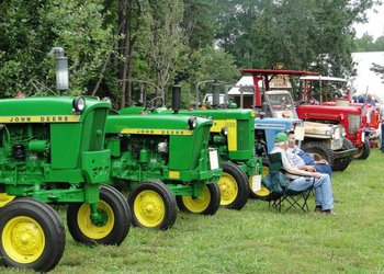 Antique tractors at Horne Creek Farm