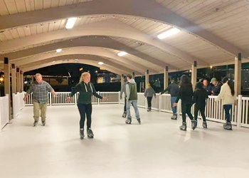 Dobson NC Ice Skating in the Square