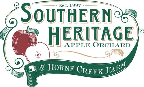 Horne Creek Farm Heirloom apple orchard logo