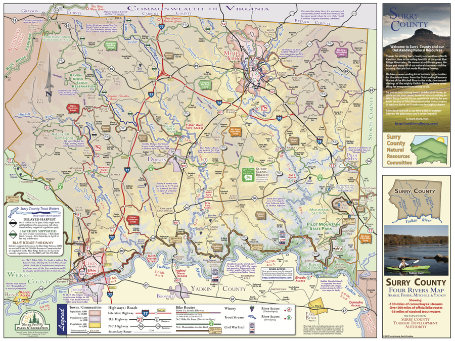 Yadkin Valley Outdoors Map (full) pg 1