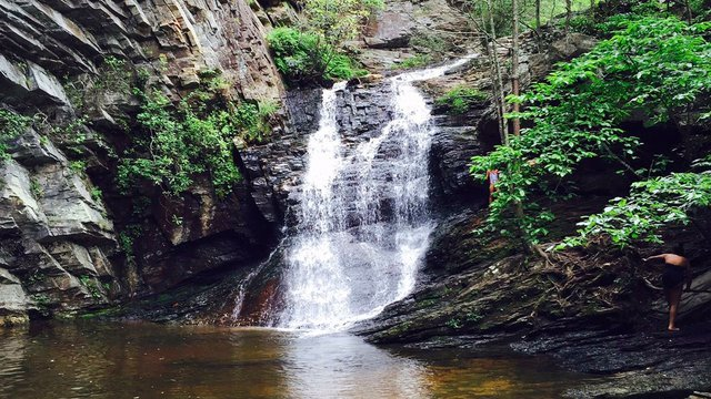 Hanging Rock State Park waterfall Yadkin Valley North Carolina