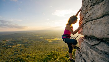 PIlot Mountain Rock Climbing in Surry County, NC