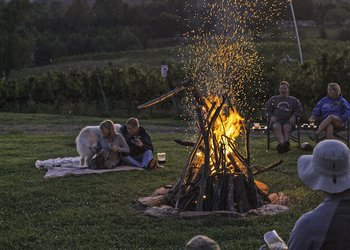 Skull Camp Out at Round Peak Vineyards