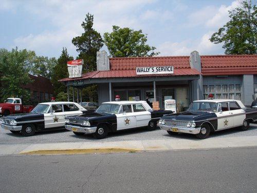 Mayberry Squad Cars in Mount Airy, Yadkin Valley