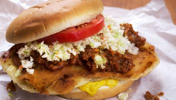 Snappy Lunch famous pork chop sandwich Mount Airy