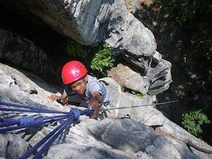 Pilot Mountain Rock Climbing and Rappelling