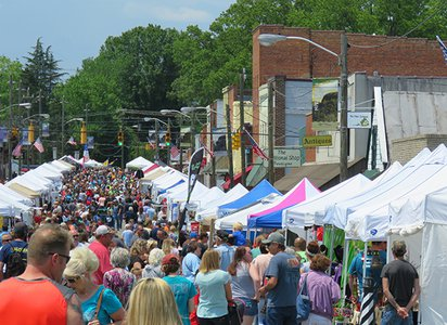 Spring Brings Antiques, Food & Fun to Downtown Pilot Mountain