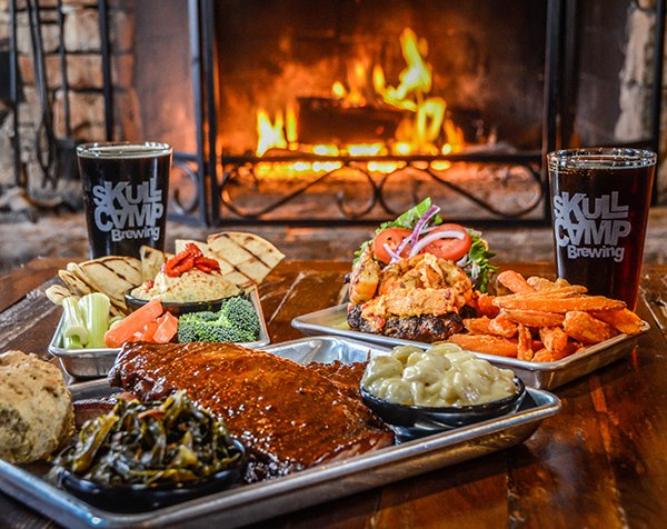 Hit the Trifecta with Beer, Barbecue & Wine at Elkin's Skull Camp Brewery & Smokehouse