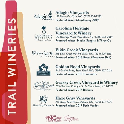 NC Wine Month Wineries Surry County 1