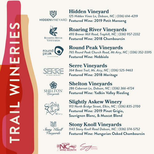 NC Wine Month Wineries Surry County 2